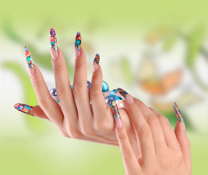 Дизайн наращённых ногтей