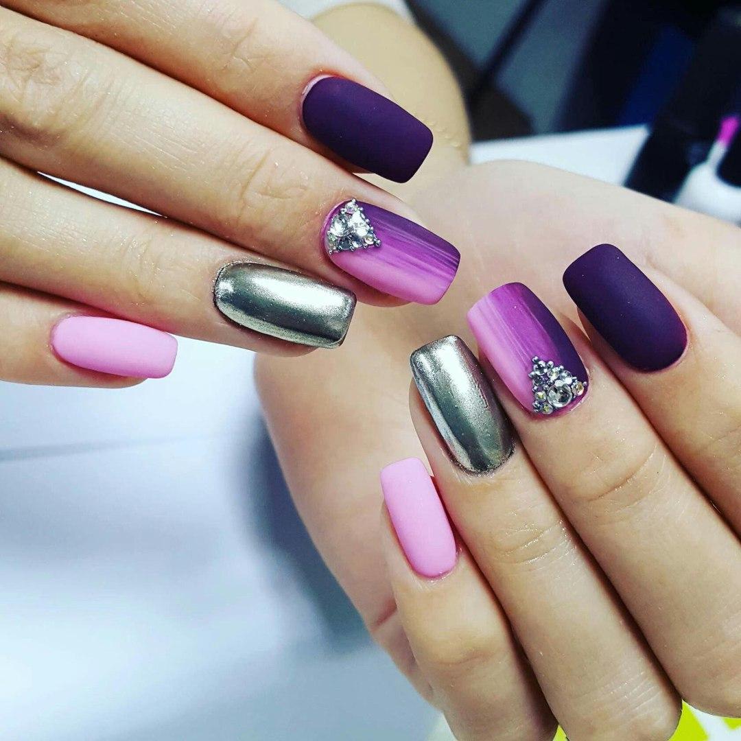 Дизайн наращенных ногтей: новинки нейл-арта 24 на фото