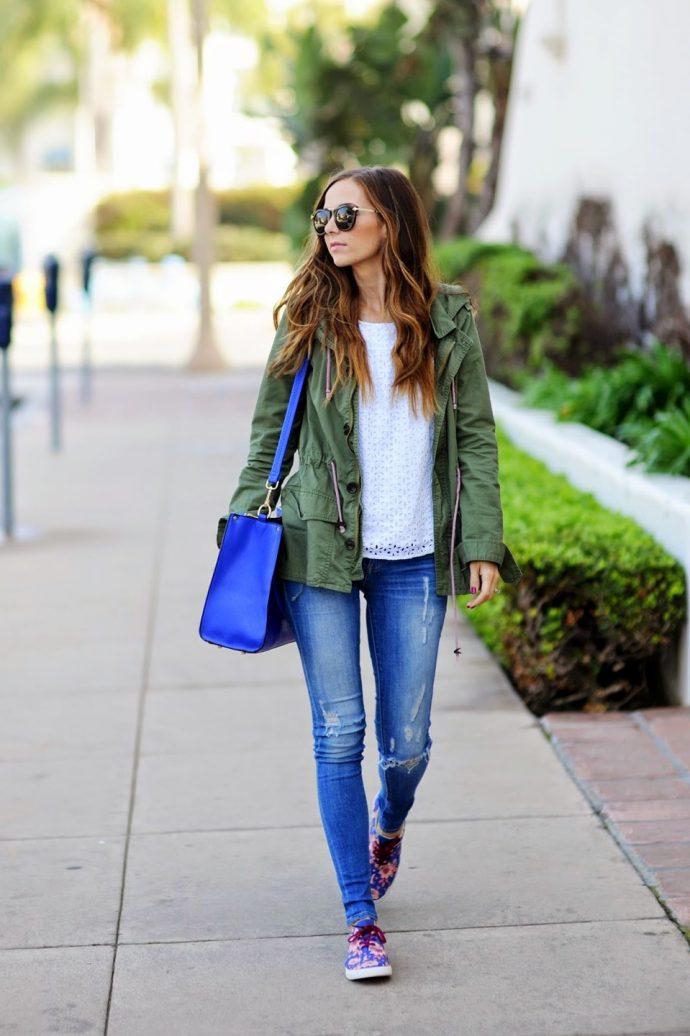Образ с джинсами скинни