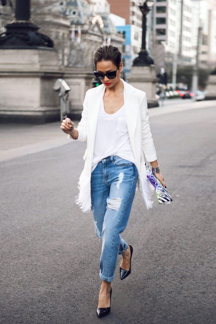 Образ с джинсами бойфрендами
