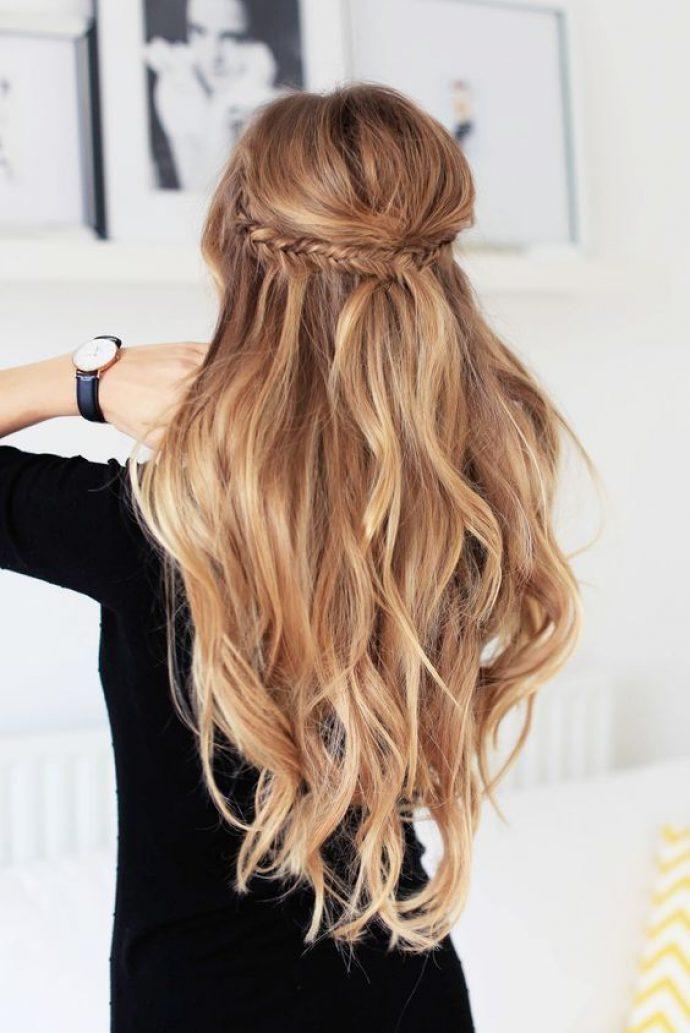 Прическая с косами для длинных волос