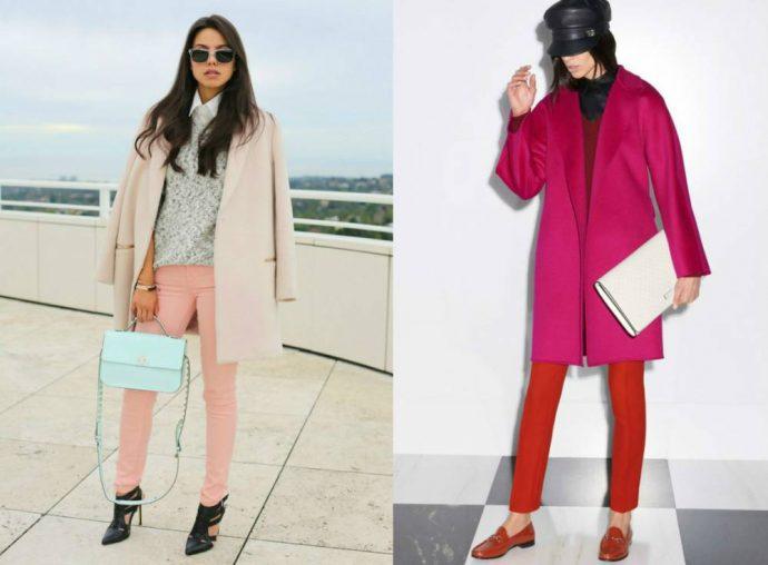 Образы с с розовым пальто