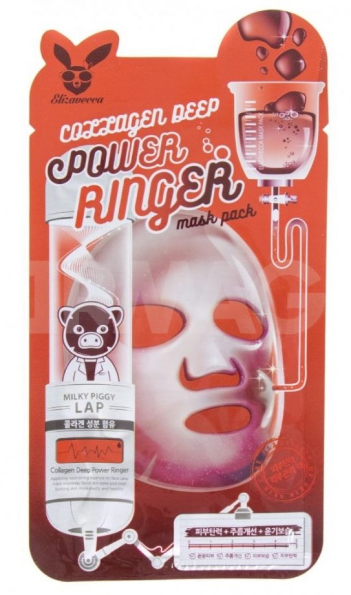 Тканевая маска для лица Elizavecca Face Care Collagen Deep Power Mask Pack