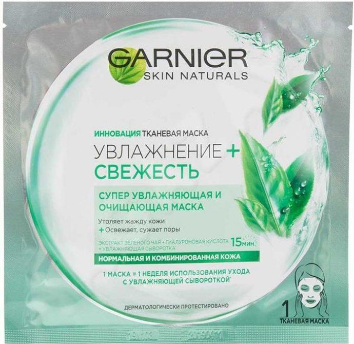 Тканевая маска для лица Garnier Skin Naturals Увлажнение + Свежесть