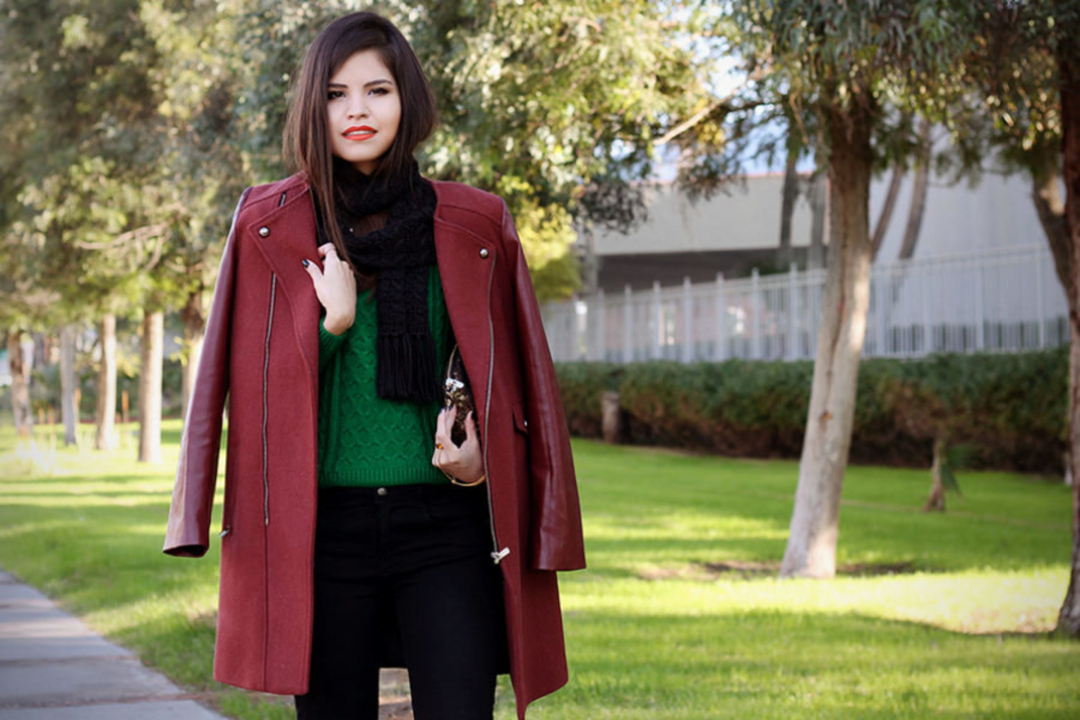 С чем носить бордовое пальто: модные советы и интересные сочетания