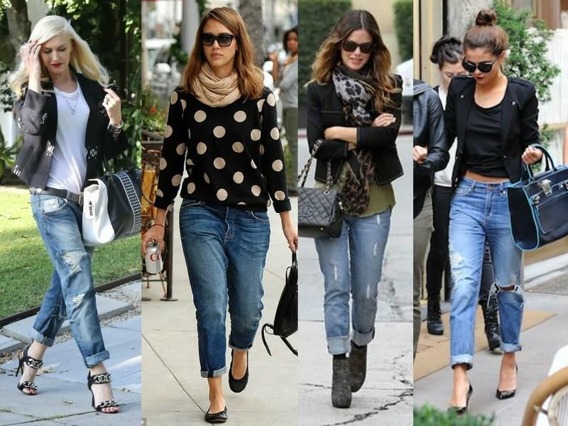 С чем носить джинсы-бойфренды: подборка