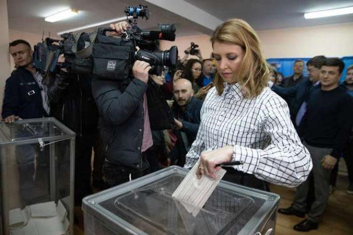 Елена Зеленская на выборах президента Украины в 2019