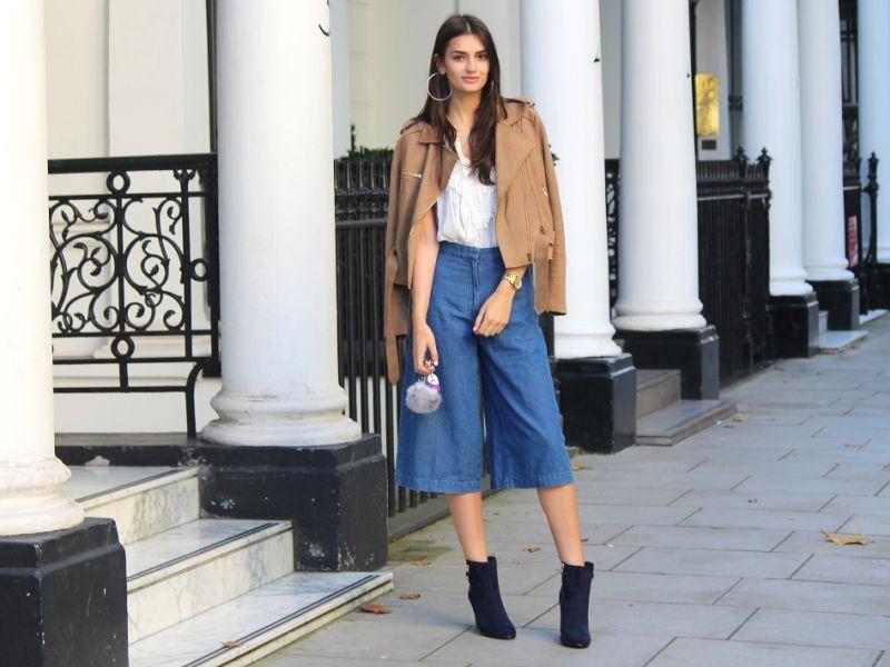 С чем носить брюки кюлоты: 20 модных образов