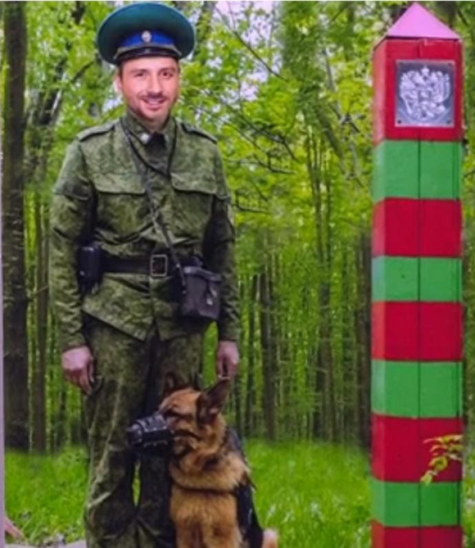 Сергей Лазарев в роли пограничника