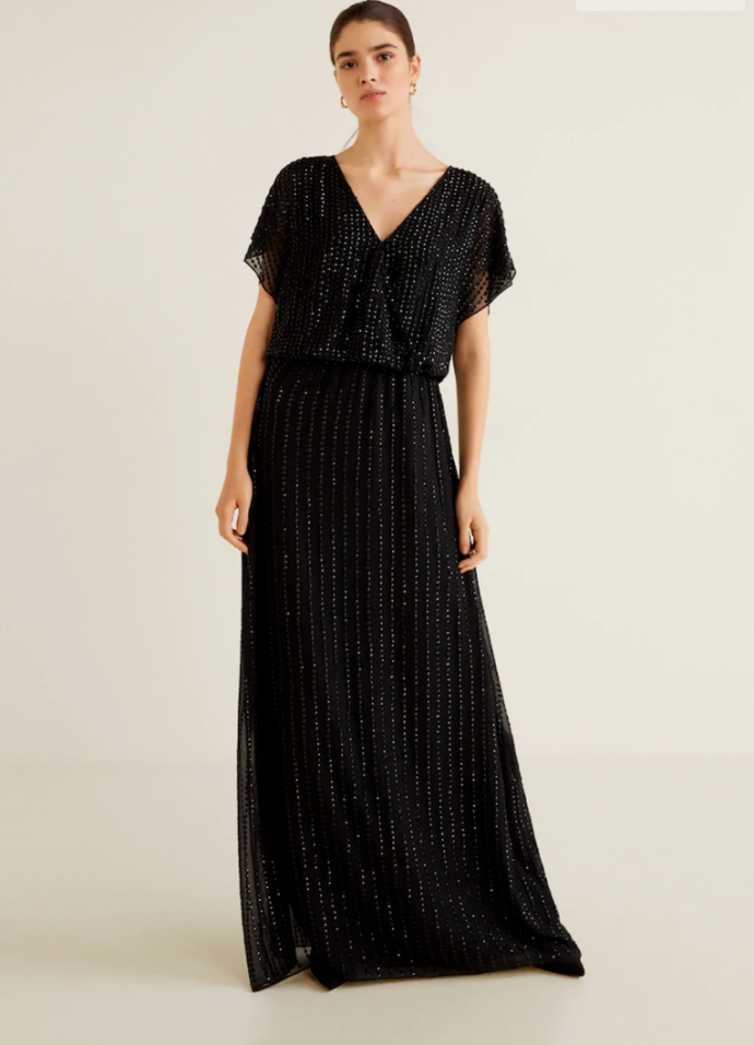 Чёрное платье макси