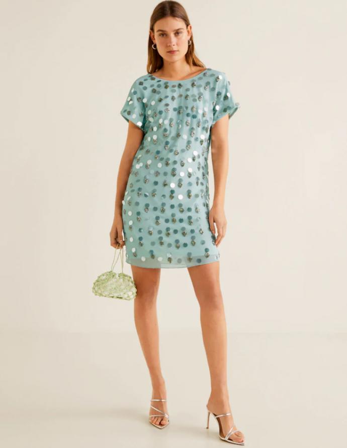 Лёгкое голубое мини-платье