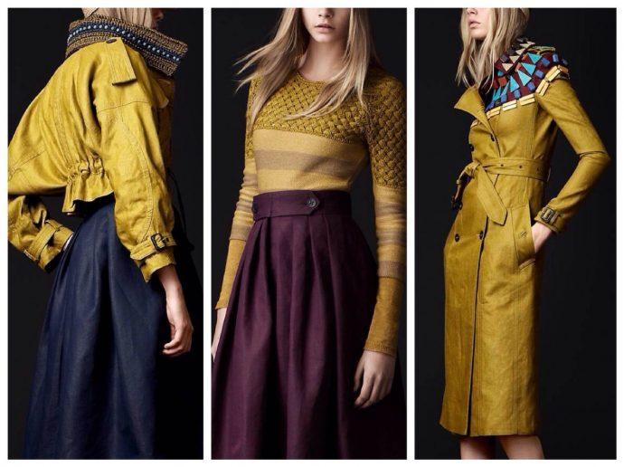 Варианты сочетания горчичного цвета в одежде