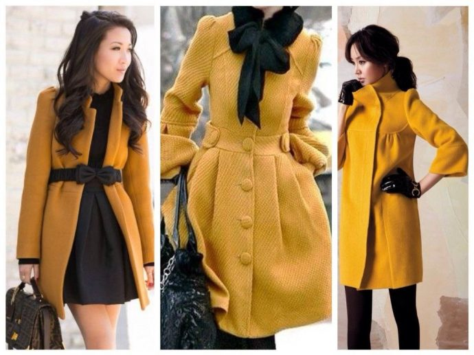 Девушки в горчичных пальто