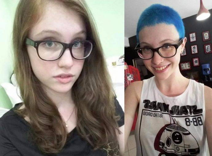 Девушка-феминистка, изменившая внешность