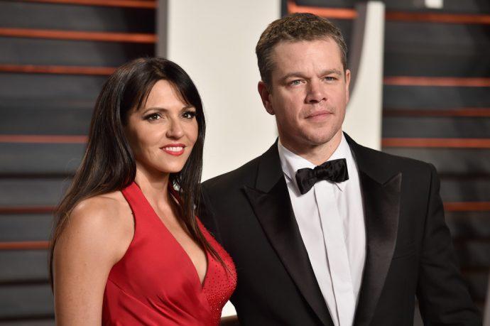 Мэтт Деймон с женой