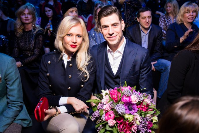 Дмитрий Дюжев с женой