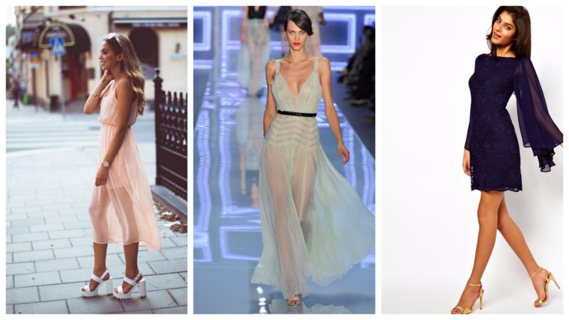 Красиво и благородно: лучшие образы с шифоновыми платьями