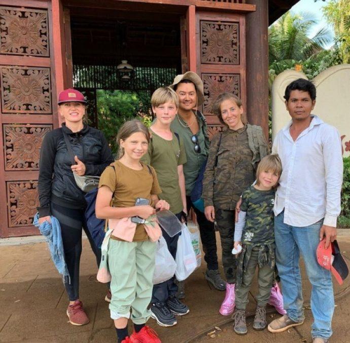 Юлия Барановски на отдыхе в Камбодже
