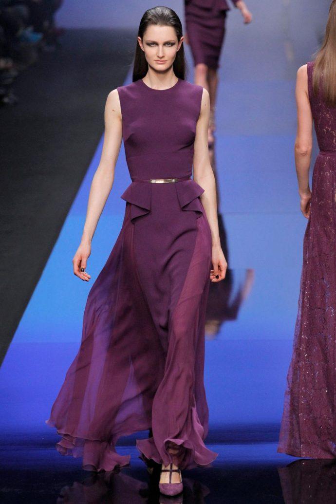 Образ с шифоновым платьем