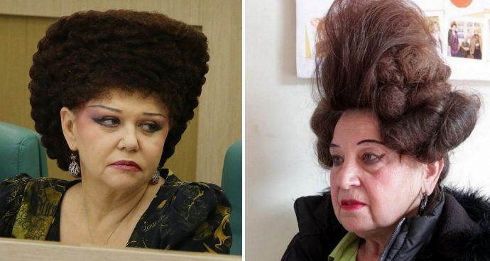 Женщины с нелепыми причёсками
