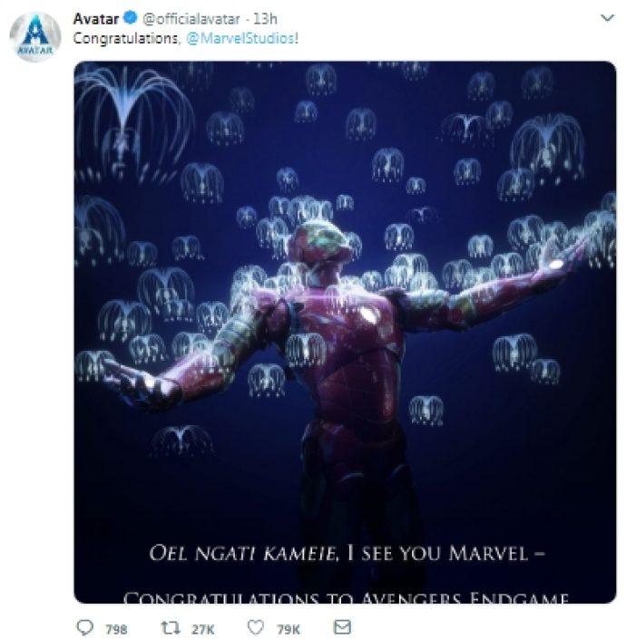 Джеймс Кэмерон поздравил студию Marvel
