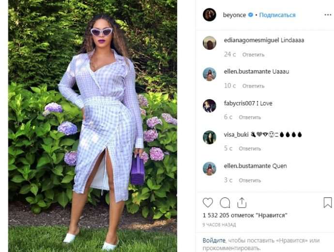 В Instagram Бейонсе появились фото с округлившимся животиком
