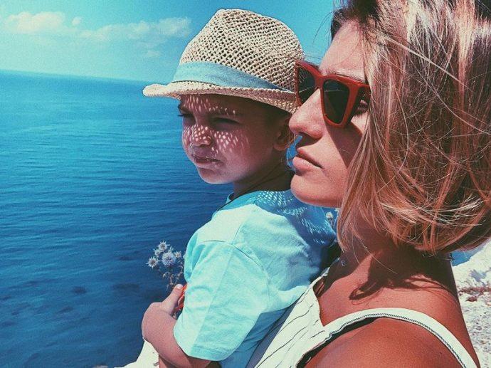 Нано Нинидзе с сыном