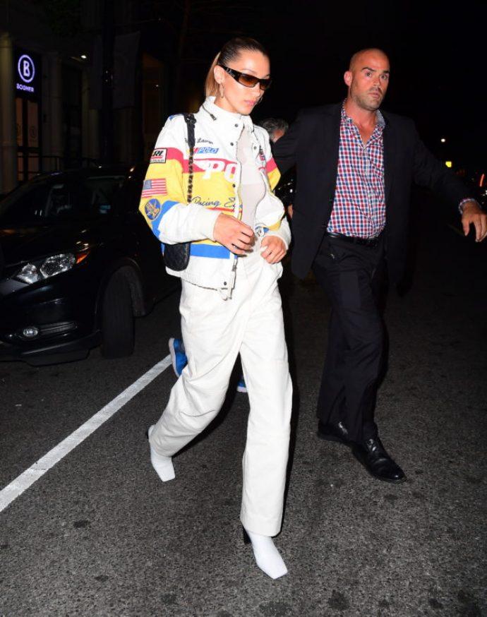 Белла хадид в куртке от Ralph Lauren