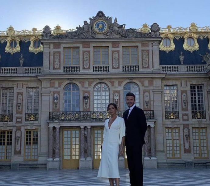 Супруги Бекхэм в Версале