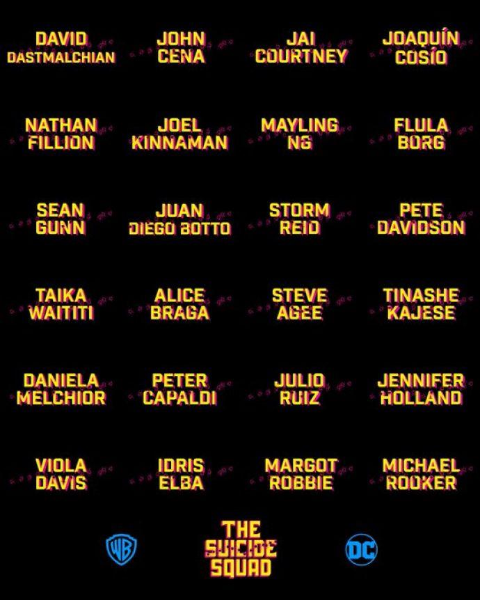 Список актёров в новой части «Отряд самоубийц 2»