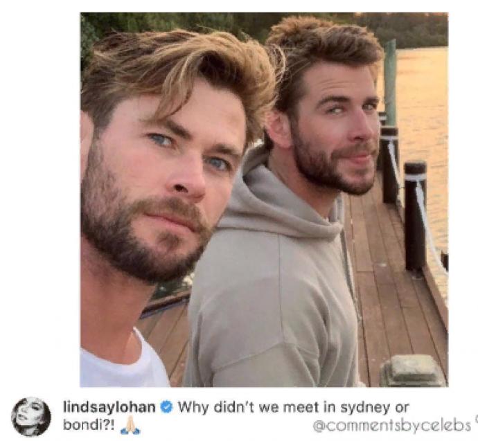 Лиам с братом на отдыхе в Австралии