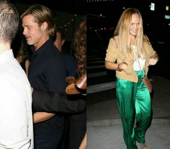 Брэд Питт с новой подружкой в Лос-Анджелесе