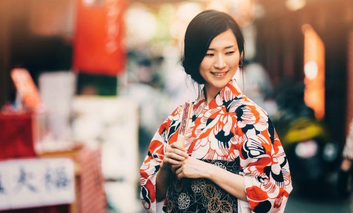 Молодая японка