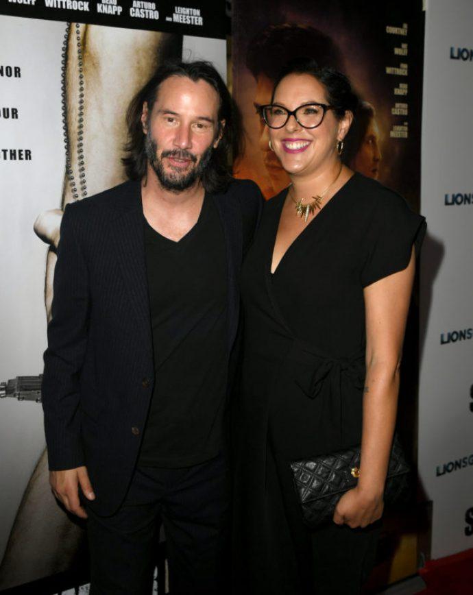 Киану Ривз на премьере с сестрой