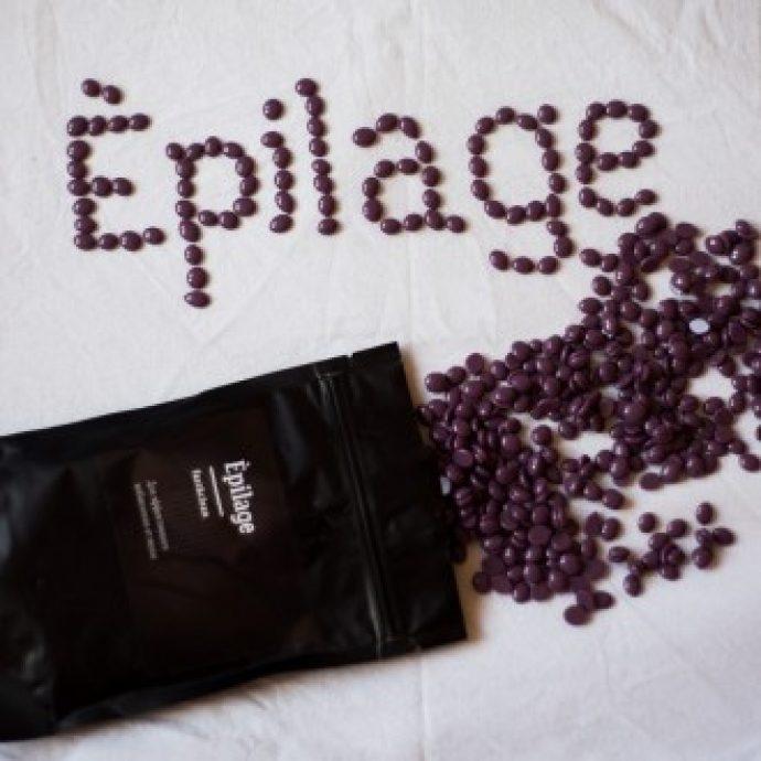 Фиолетовые гранулы пасты Épilage