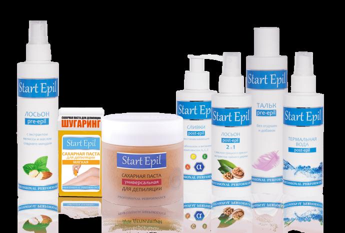 Набор средств по уходу за кожей перед и после депиляции Start Epil