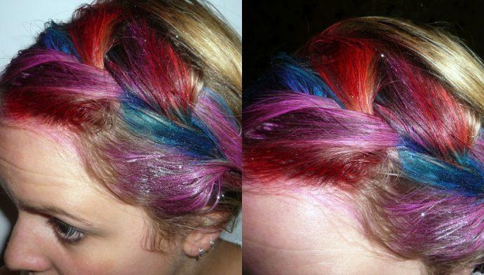 Результат использования спреев Colour Xtreme Hair Art