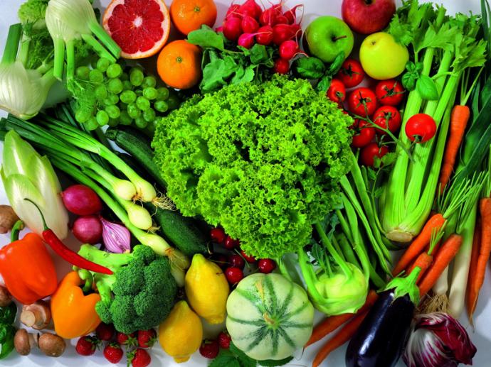 Фрукты, зелень и овощи