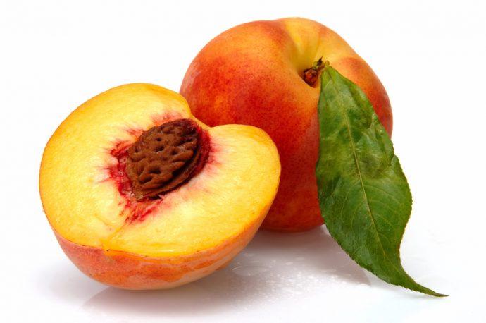 Персик в разрезе