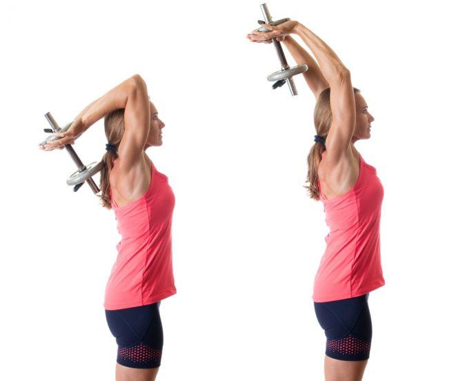 Упражнение для тренировки трицепсов