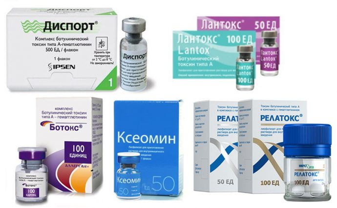 Препараты с ботулотоксином