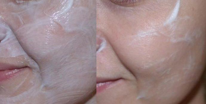 Нанесение маски Кора на лицо