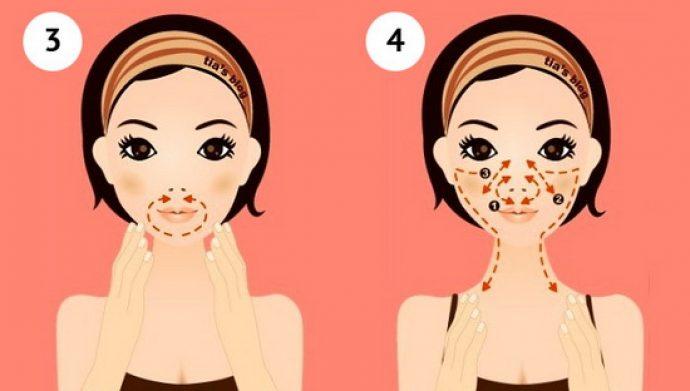 Самомассаж лица: шаги 3 и 4