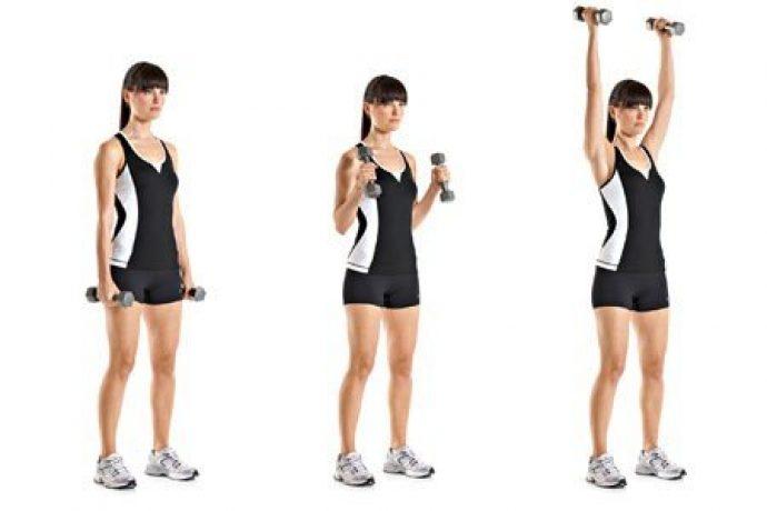 Упражнение для рук помогают подтянуть кожу после похудения