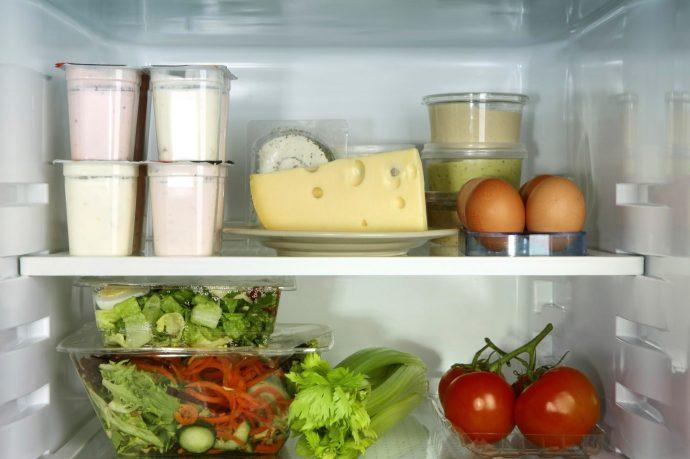 Полезная еда в холодильнике