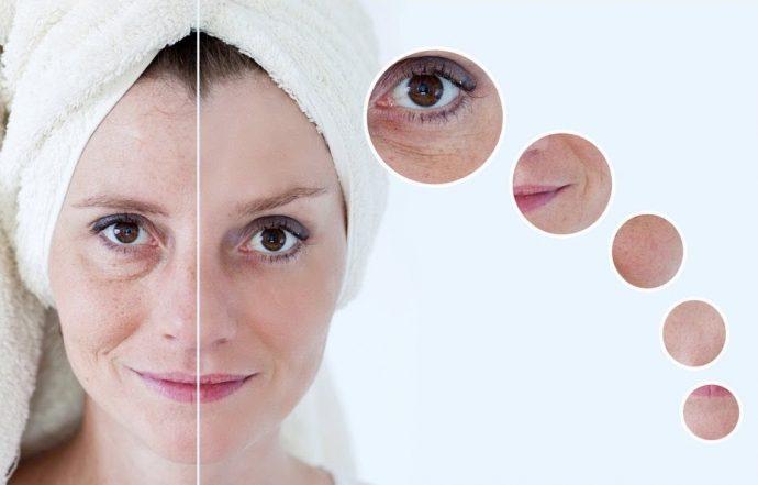 Внешние признаки старения кожи лица