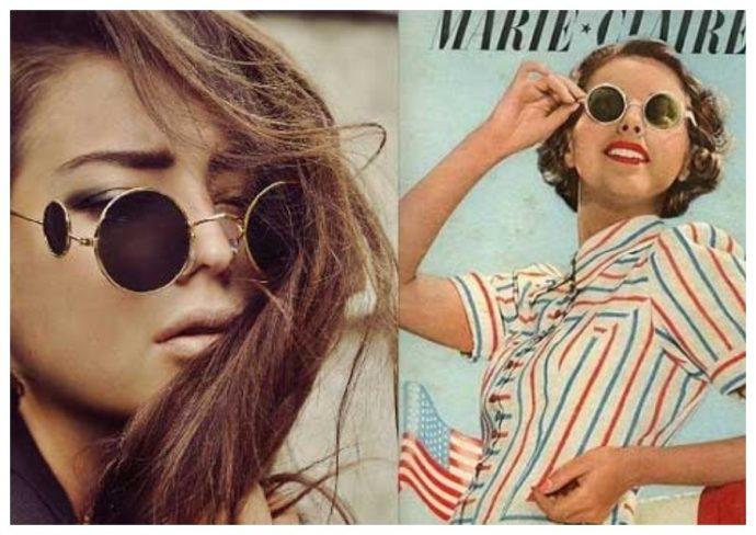 Девушки в очках с круглой оправой