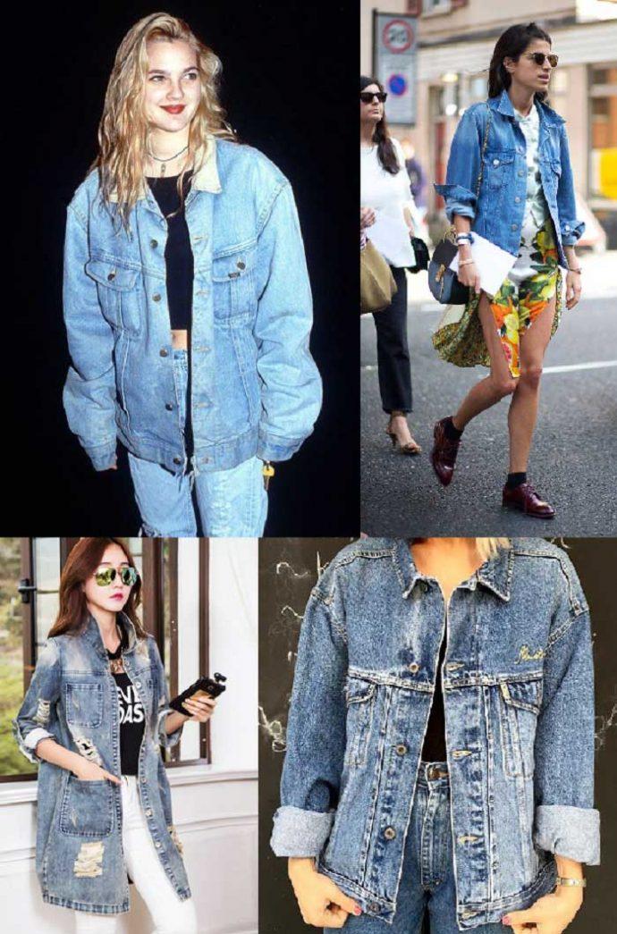 Образы с джинсовыми куртками