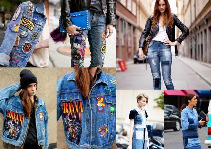 джинсы с нашивкой