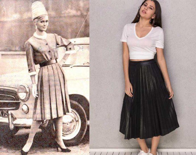 Образы с юбками миди